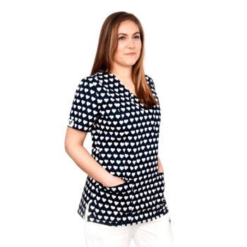 bluza medyczna damska w serca MW3659x