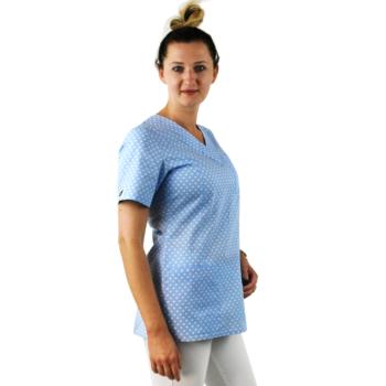 bluza-damska-medyczna-kokolu-gdansk-serca-niebieska-2