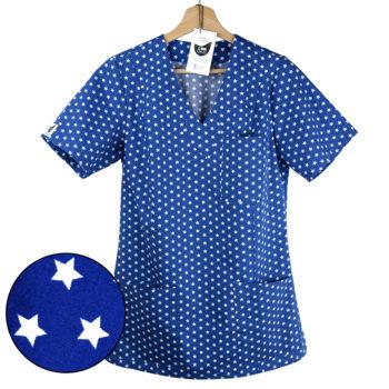bluza medyczna damska kokolu gwiazdki