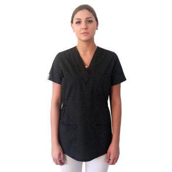 bluza-medyczna-damska-czarna-groszki-01