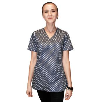bluza-medyczna-damska-grafitowa-serduszka