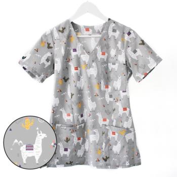 bluza-medyczna-damska-szara-lamy-kokolu
