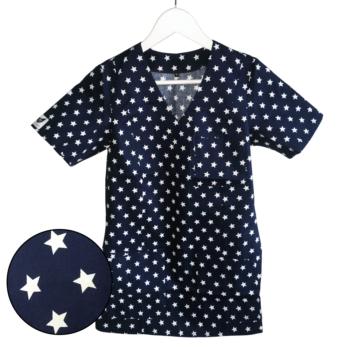 bluza-medyczna-damska-granatowa-gwiazdki-kokolu