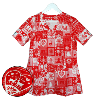 bluza-medyczna-damska-czerwona-swieta-kokolu