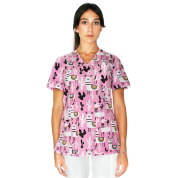 bluza-medyczna-alpaki-różowa-kokolu-01