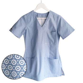 bluza-medyczna-damska-kwiaty-kokolu-gdansk