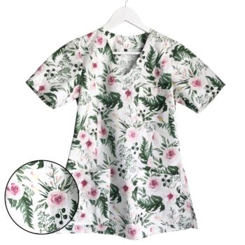 bluza-medyczna-damska-kwiatki-kokolu-gdansk