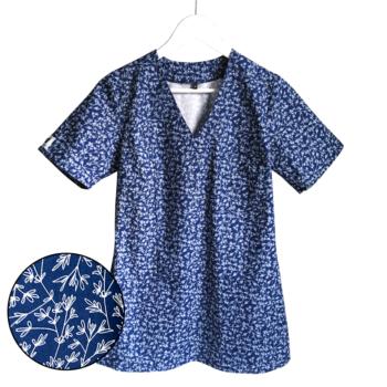 bluza-medyczna-damska-listki-kokolu-gdansk