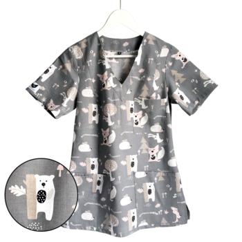 bluza-medyczna-damska-zwierzątka-kokolu-gdansk