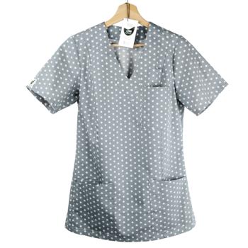 bluza-medyczna-damska-kokolu-gwiazdki-szara