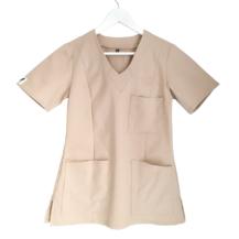 Bluza medyczna damska w kolorze beżowym
