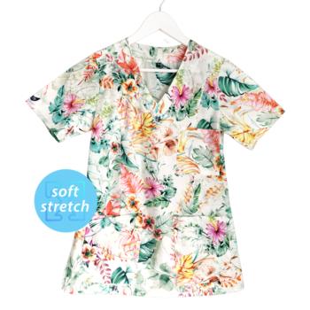 bluza-medyczna-damska-kwiaty-kokolu