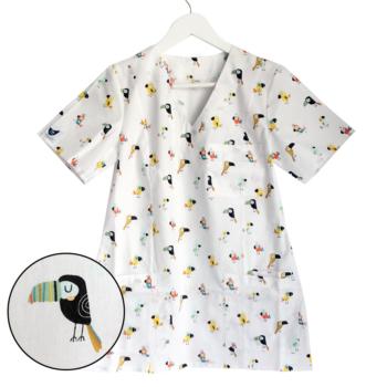 bluza-medyczna-damska-ptaki-kokolu-trojmiasto