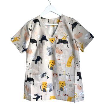 bluza-medyczna-damska-koty-kokolu