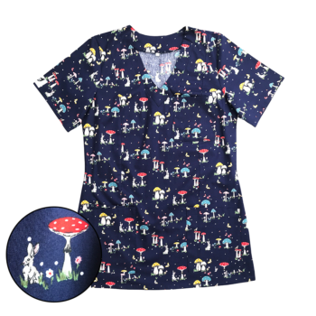 bluza-medyczna-damska-grzybki-kokolu