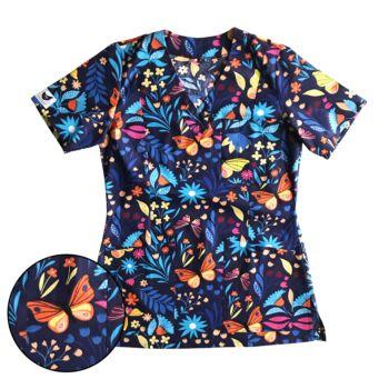 bluza-medyczna-damska-motyle-kokolu